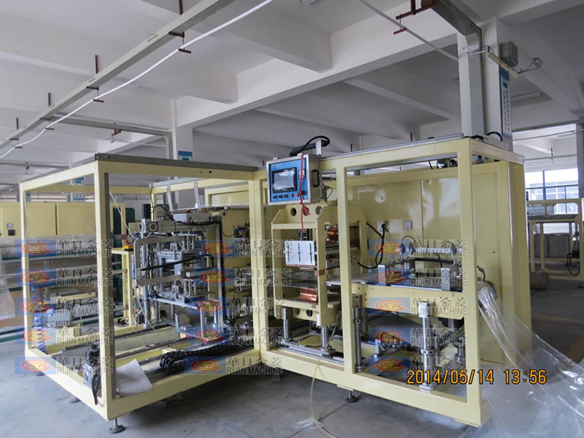 全自动文件袋书皮袋(TPU)成型机出货-全自动高周波塑胶熔接机